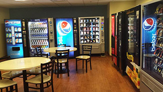 Vending machines and tables